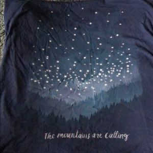 "Life is good dark blue ""the mountains are calling"""